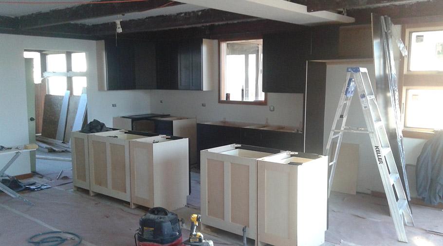 Kitchen Fire Restoration - During