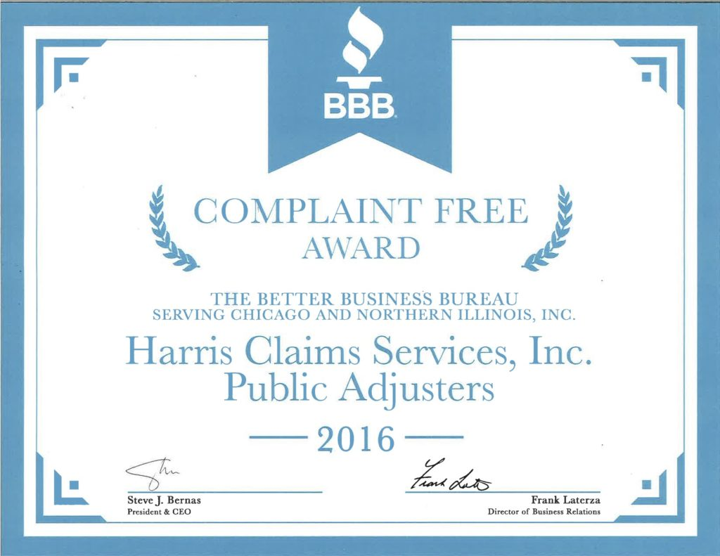 Harris Claims BBB Complaint Free Award