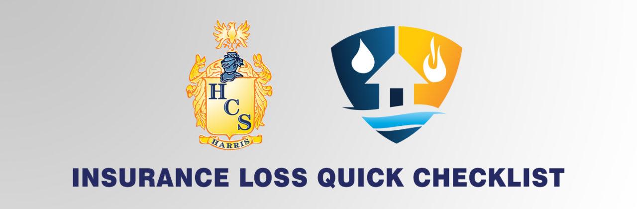 The Harris Claims Insurance Loss Checklist (Quick List)